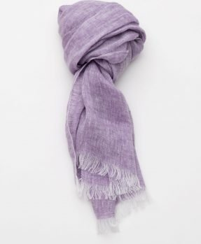 Linen scarf Aire lilac