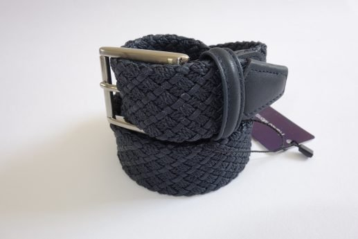 Navy blue braided belt Franco Montanelli