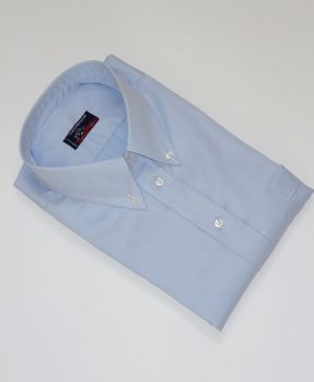 Light blue Men's Cotton piquet shirt