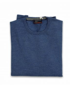 Merino wool crewneck for man