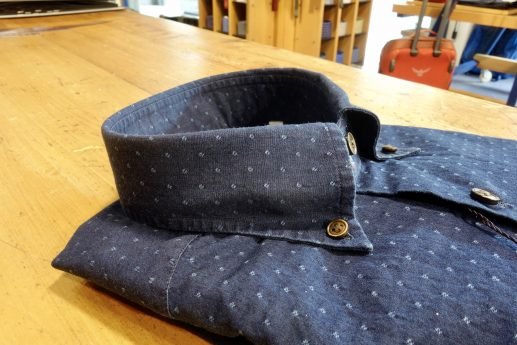 Camicia denim Uomo fantasia scura