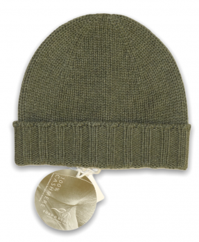 Military knitted cashmere cap